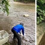 Environmental water sampling at Namie Town